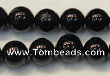 CTO105 15.5 inches 14mm round natural black tourmaline beads