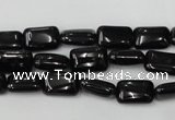 CTO124 15.5 inches 8*12mm rectangle black tourmaline beads