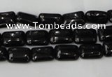 CTO125 15.5 inches 10*14mm rectangle black tourmaline beads
