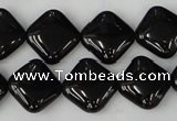 CTO127 15.5 inches 15*15mm diamond black tourmaline beads