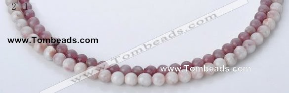 CTO14 15 inches 6mm & 6.5mm round natural tourmaline beads
