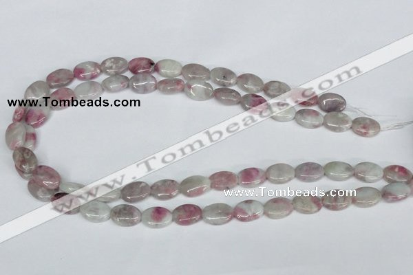CTO203 15.5 inches 10*14mm oval pink tourmaline gemstone beads