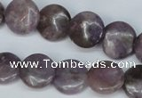 CTO222 15.5 inches 10mm flat round tourmaline gemstone beads