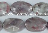 CTO233 15.5 inches 20*30mm wavy oval tourmaline gemstone beads