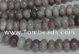 CTO237 15.5 inches 5*8mm rondelle pink tourmaline gemstone beads