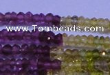 CTO301 15.5 inches 1.5*2.2mm faceted rondelle tourmaline beads