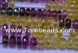CTO304 15.5 inches 2.5*4mm faceted rondelle tourmaline beads