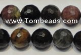 CTO31 15.5 inches 14mm faceted round natural tourmaline beads