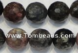 CTO32 15.5 inches 16mm faceted round natural tourmaline beads