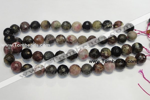 CTO33 15.5 inches 12mm faceted round natural tourmaline beads