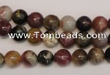 CTO351 15.5 inches 8mm round natural tourmaline gemstone beads