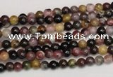 CTO355 15.5 inches 4mm round natural tourmaline gemstone beads