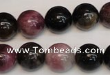 CTO361 15.5 inches 14mm round natural tourmaline gemstone beads