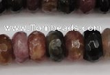 CTO378 15.5 inches 6*10mm faceted rondelle natural tourmaline beads