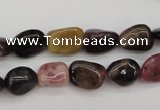 CTO382 15.5 inches 9*11mm natural tourmaline nuggets beads