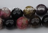 CTO391 15.5 inches 13mm round natural tourmaline gemstone beads