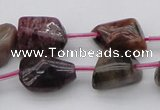 CTO396 15.5 inches 10*12mm - 12*16mm nuggets tourmaline gemstone beads
