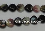 CTO40 15.5 inches 10*10mm heart natural tourmaline beads wholesale