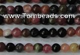 CTO451 15.5 inches 4mm round natural tourmaline gemstone beads