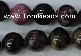 CTO458 15.5 inches 13mm round natural tourmaline gemstone beads