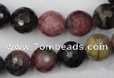 CTO46 15.5 inches 10mm faceted round natural tourmaline beads