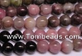 CTO55 15.5 inches 10mm round natural tourmaline gemstone beads