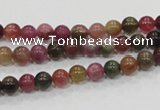 CTO61 15.5 inches 5mm round natural tourmaline gemstone beads