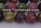 CTO637 15.5 inches 10mm faceted round tourmaline gemstone beads