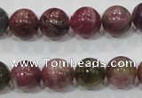 CTO66 15.5 inches 12mm round natural tourmaline gemstone beads