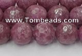 CTO660 15.5 inches 12mm faceted round Chinese tourmaline beads