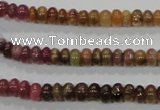CTO68 15.5 inches 4*6mm rondelle natural tourmaline gemstone beads