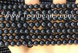CTO711 15.5 inches 6mm round black tourmaline gemstone beads