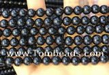 CTO712 15.5 inches 8mm round black tourmaline gemstone beads