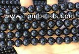 CTO713 15.5 inches 10mm round black tourmaline gemstone beads