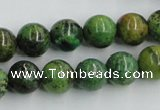 CTP05 15.5 inches 12mm round yellow green pine gemstone beads wholesale