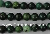 CTP202 15.5 inches 8mm round yellow pine turquoise beads wholesale