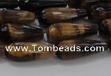 CTR104 15.5 inches 8*20mm faceted teardrop yellow tiger eye beads