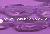 CTR200 13*18mm - 18*38mm faceted teardrop white crystal beads
