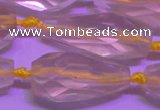 CTR202 15*35mm - 20*42mm faceted teardrop lemon quartz beads