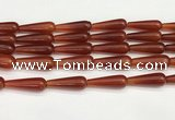 CTR422 15.5 inches 10*30mm teardrop agate beads wholesale