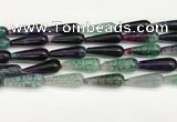 CTR430 15.5 inches 10*30mm teardrop agate beads wholesale