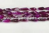 CTR441 15.5 inches 8*20mm faceted teardrop agate beads wholesale