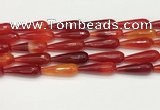 CTR457 15.5 inches 10*30mm faceted teardrop agate beads wholesale