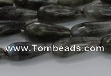 CTR99 15.5 inches 8*20mm faceted teardrop labradorite beads