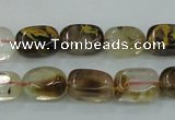 CTS56 15.5 inches 8*14mm nugget tigerskin glass beads wholesale