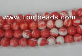 CTU1001 15.5 inches 6mm round synthetic turquoise beads wholesale