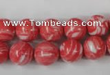 CTU1004 15.5 inches 12mm round synthetic turquoise beads wholesale