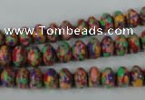 CTU1060 15.5 inches 5*8mm rondelle synthetic turquoise beads wholesale
