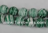 CTU1128 15.5 inches 10mm round synthetic turquoise beads wholesale