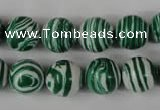 CTU1129 15.5 inches 12mm round synthetic turquoise beads wholesale